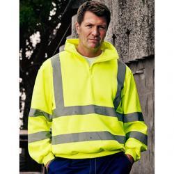 Hi Vis 1/4 Zip Sweatshirt -...