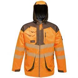 Herren Hi-Vis Parka Jacket,...