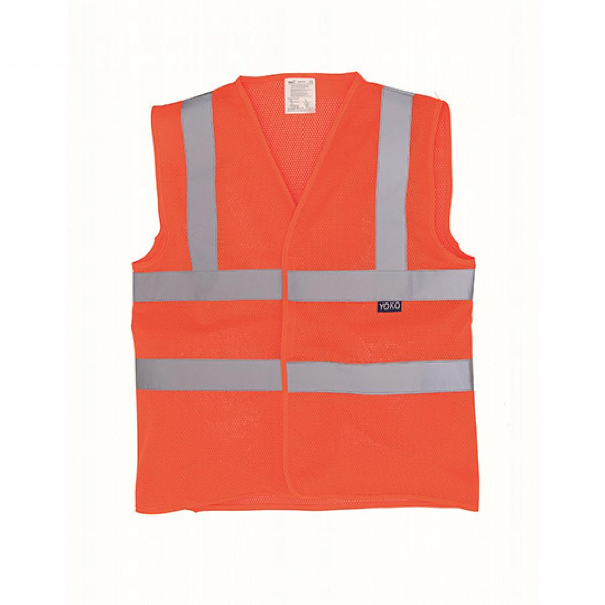 Hi-Vis Sicherheitsweste Farbe:Hi Vis Orange;Gr/ö/ße:3XL